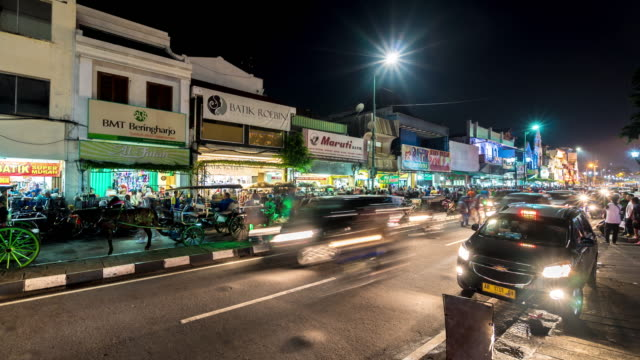 Night market in Yogyakarta video