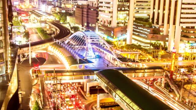 Night modern city video