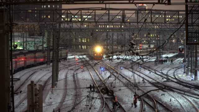 Night movement of trains on the big and important railway direction