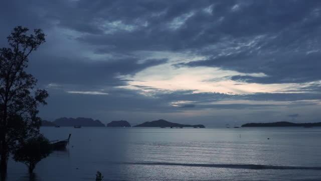 Night over Andaman sea, Thailand