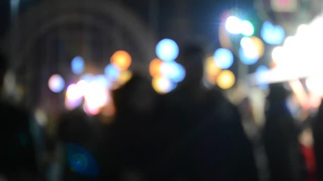 natt folket parkerar nöjesparken gatan bakgrund oskärpa - wheel black background bildbanksvideor och videomaterial från bakom kulisserna