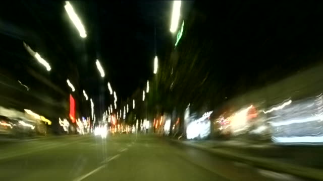 Night ride on the highway video