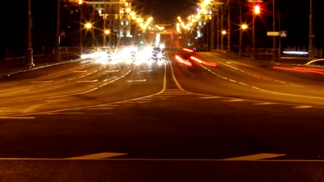 night road video