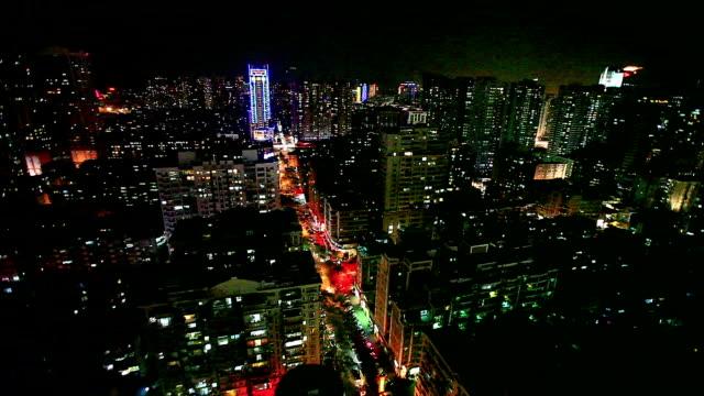 natt scence i staden xiamen - xiamen bildbanksvideor och videomaterial från bakom kulisserna