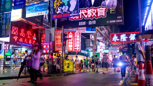stockvideo's en b-roll-footage met night shopping market - chinese etniciteit