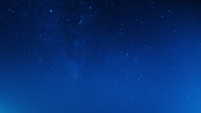 night sky and stars. time lapse video - cielo stellato video stock e b–roll