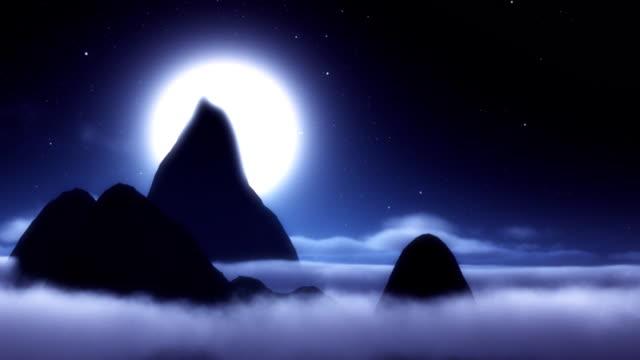 夜空の夢の世界へいざないます。 - 層積雲点の映像素材/bロール