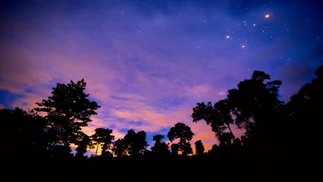 Night sky Time lapse video