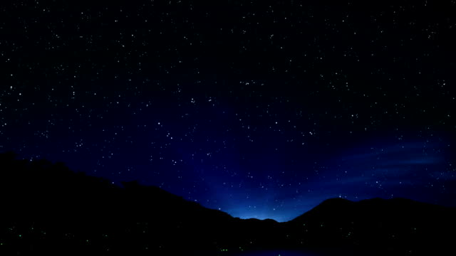 Night sky video