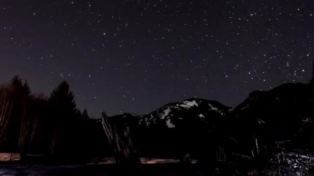 Night Stars Time Lapse video