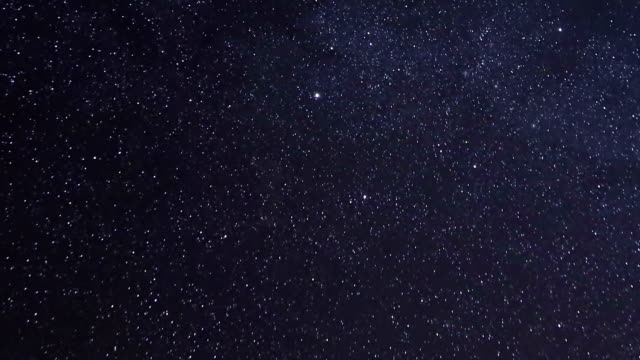 Night Stars Time Lapse with Meteor shower video