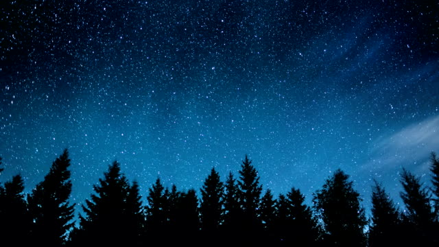 Night stars timelapse video