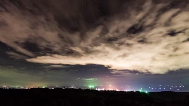 Night storm time lapse 4K video