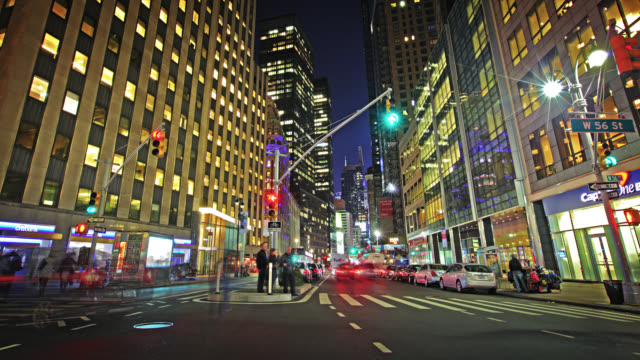 Night street Broadway to Time Square video