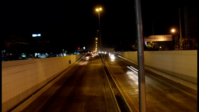 Night street timelapse of Chiang Mai, Thailand video