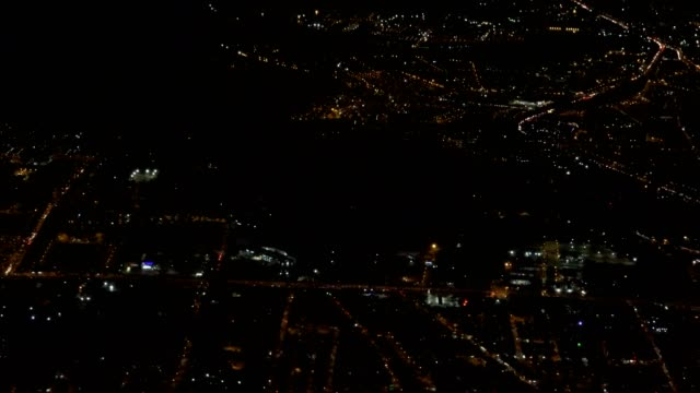 Night Time City Aerial video