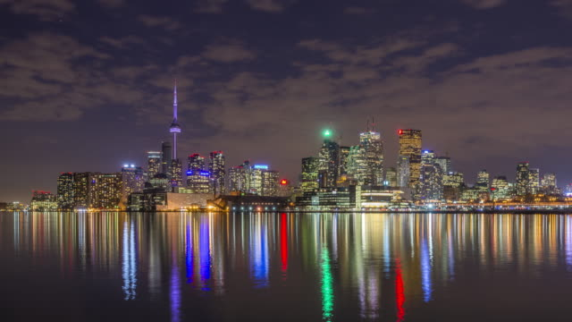 night time in toronto - toronto architecture stock videos & royalty-free footage