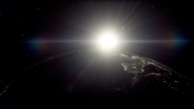 natt tid planet jorden timelpase med norrsken synligt - earth from space bildbanksvideor och videomaterial från bakom kulisserna