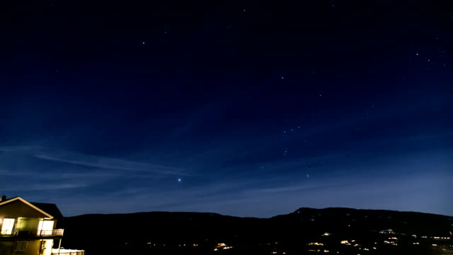 Night time time lapse with stars Night time lapse of scenic town high dynamic range imaging stock videos & royalty-free footage