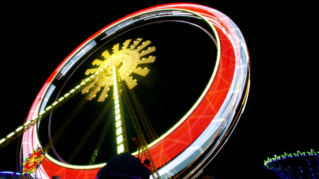 Night Time-lapse Video of a Ferris Wheel video