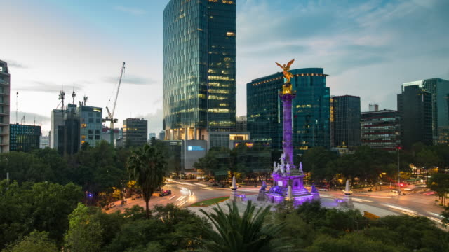 Noche al día, lapso de tiempo de la ciudad de México - vídeo