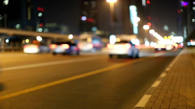 숙박 트래픽 유클리드의 셰이크 자에드 로드 두바이 - 틸트 스톡 비디오 및 b-롤 화면