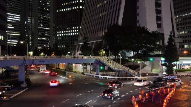 Night Traffic in Shinjuku video