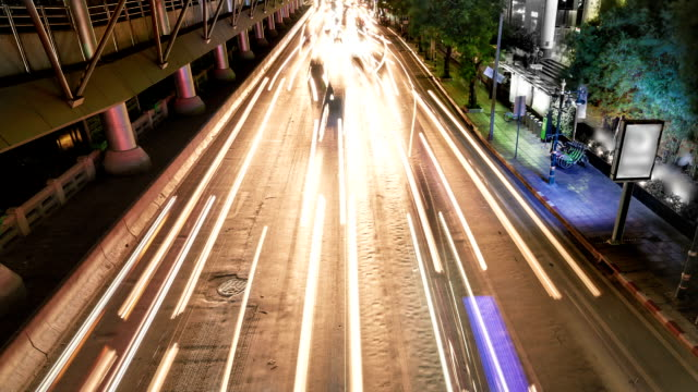 Night Traffic jam in the city video