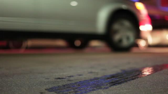 Night traffic on Ocean Drive, Miami video