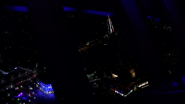 Night view from the Berlin TV tower top view. video