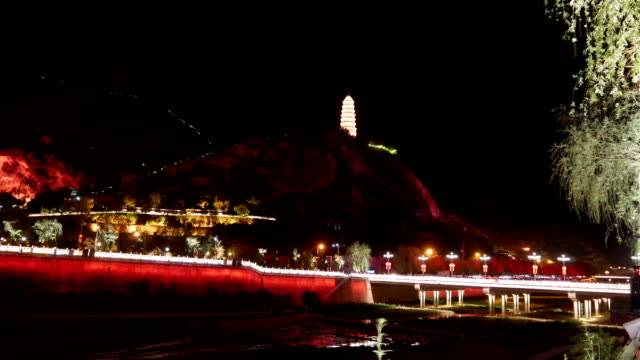 Night View of Baota Mountain in the Holy Land of Yan'an Revolution