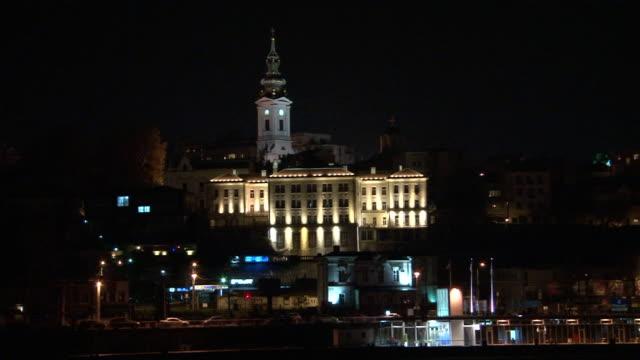 Night view of Belgrade video