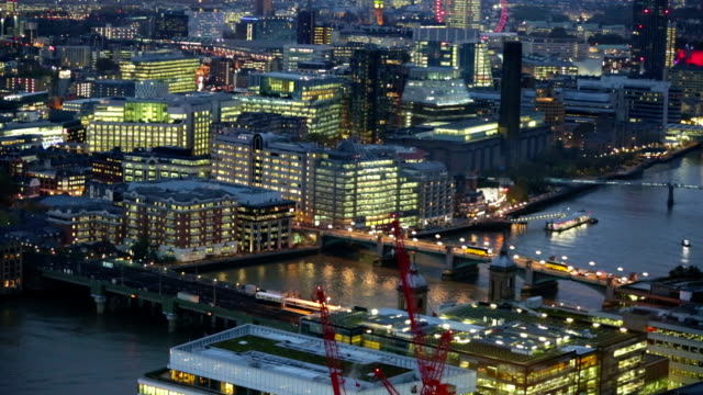 Night view of City of London. video