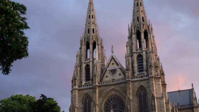 Night view of Sainte-Clotilde church