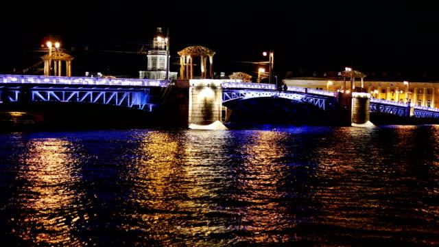 Night view of the Palace Bridge. video