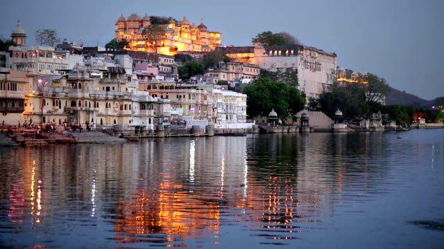 Night View of Udaipur, Rajasthan video