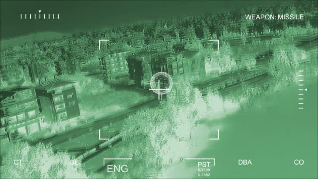 Night Vision Air Strike  bomb stock videos & royalty-free footage