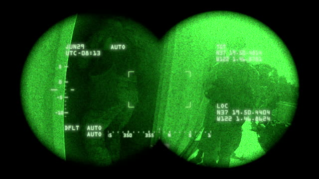 night vision military - marines military stock videos & royalty-free footage