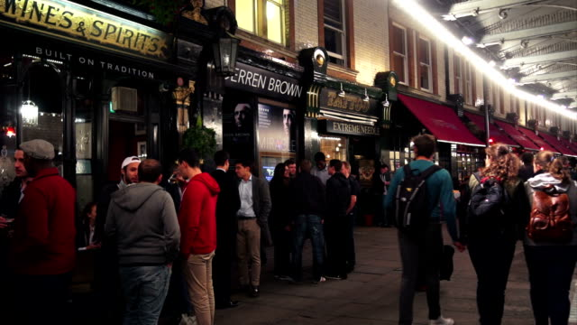 Nightlife In London Soho At St. Martins Court video