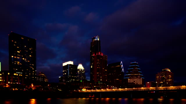 Night's end Timelapse of Austin, Texas skyline video