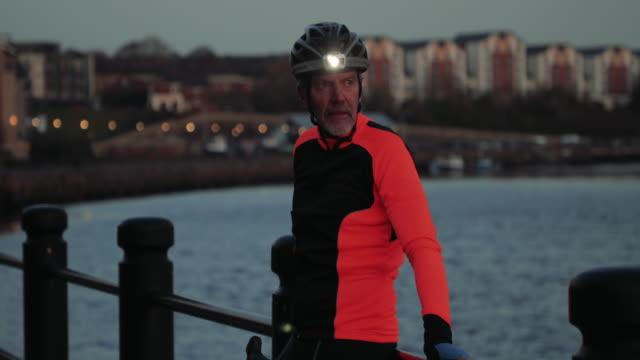 Night-time Cyclist Portrait video