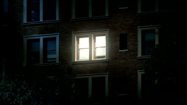 Nighttime Establishing Shot of Late Night Worker in Office Building video