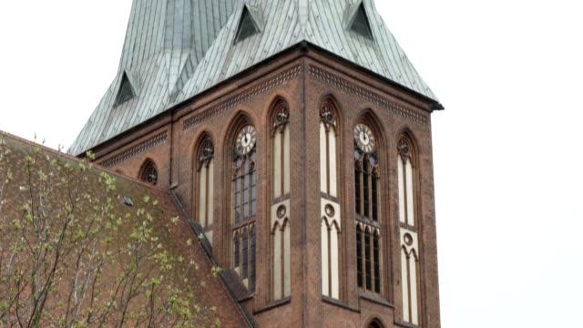 Nikolaikirche Church in Berlin on a cloudy day