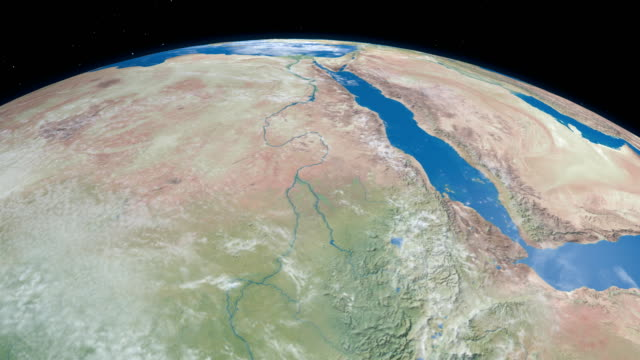 nile river in planet earth, aerial view from outer space - aerial map stock videos & royalty-free footage