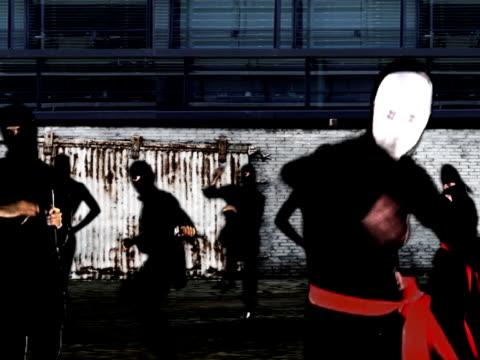 ninja army ninja army in a back alley ninja stock videos & royalty-free footage