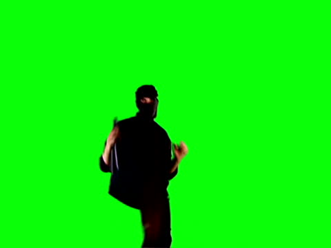 ninja chroma key a ninja with nunchakus kick the air ninja stock videos & royalty-free footage
