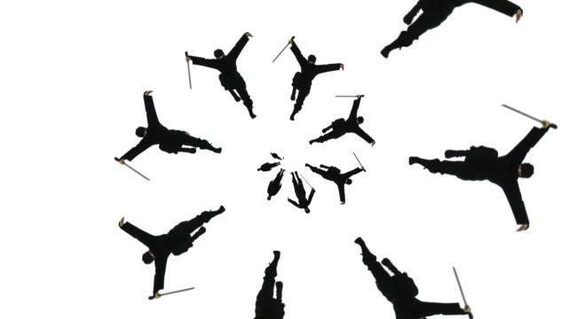 ninja spiral loop - karate stok videoları ve detay görüntü çekimi
