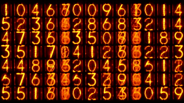 Nixie counting machine video