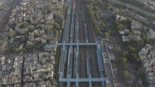 Nizamuddin Railway Station, New Delhi - Aerial 4K Raw