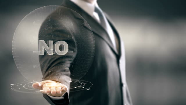 No Businessman Holding in Hand New technologies video